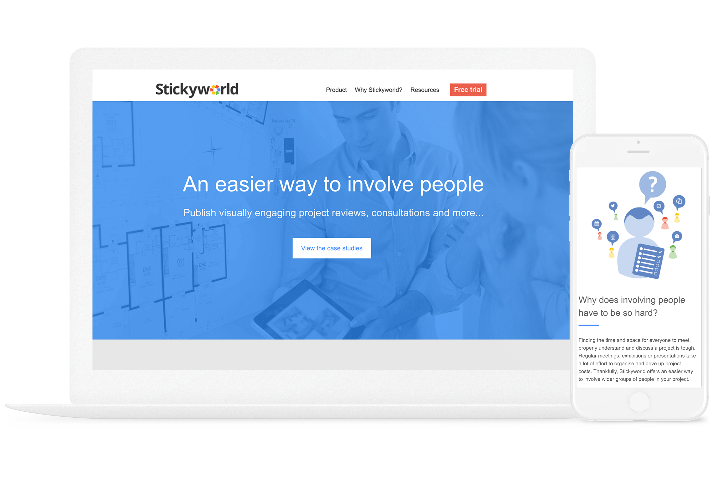 Stickyworld is a SaaS company who saw incredible results when redesigning their website on the COS