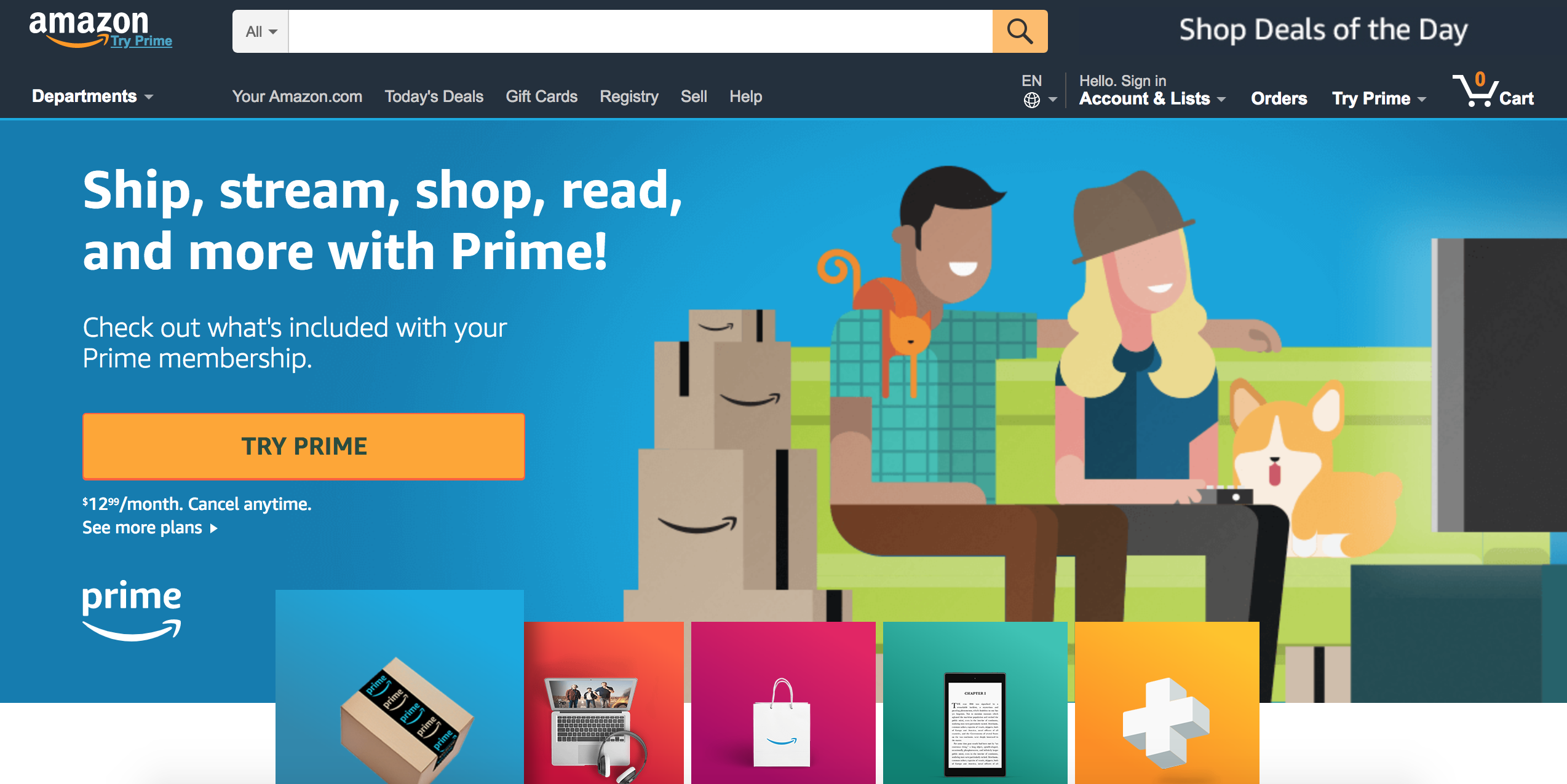 amazon prime saas marketing example