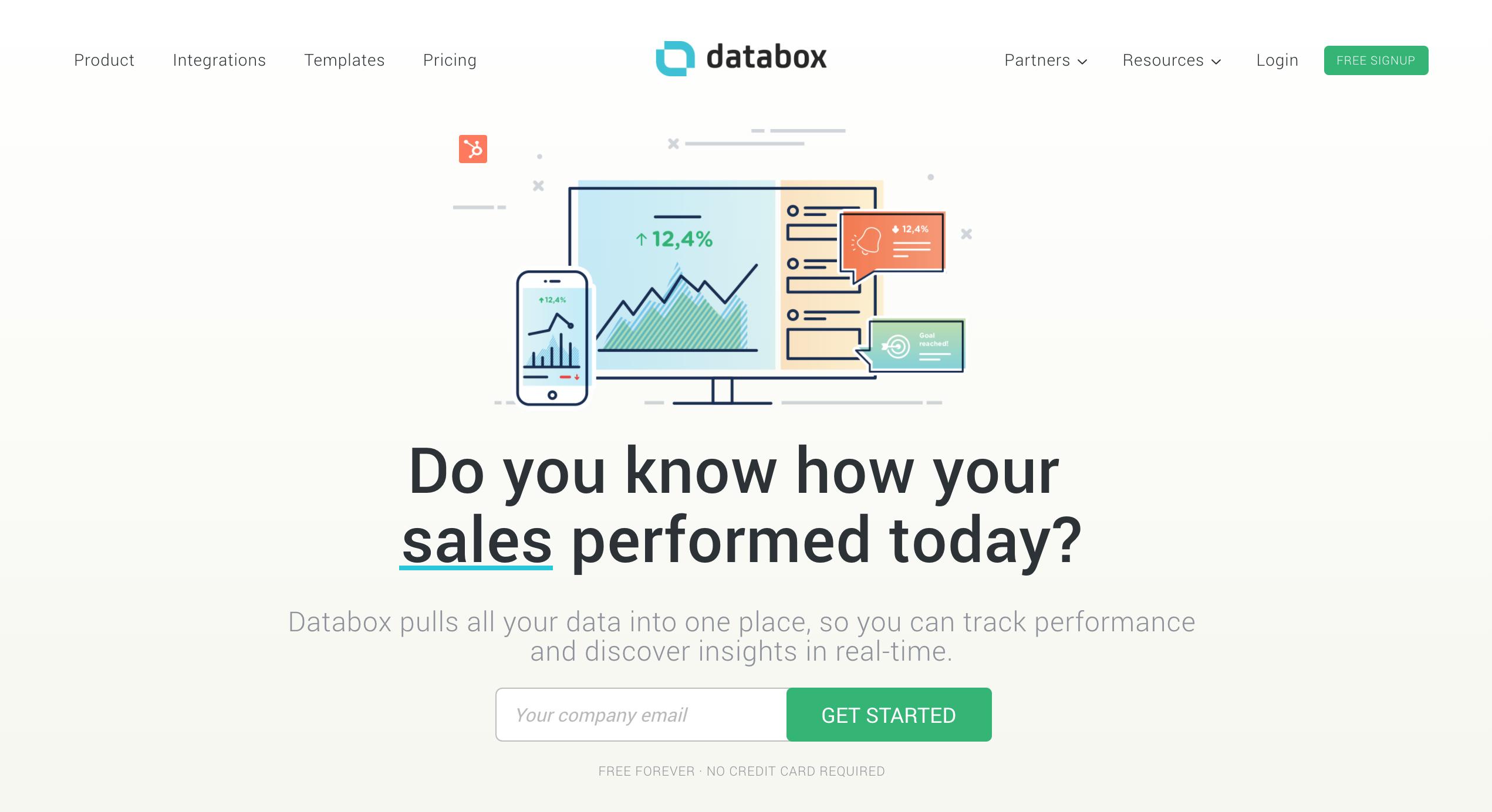 databox saas marketing tools