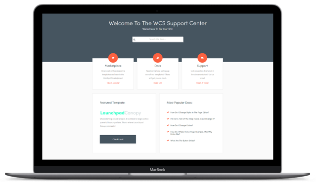 Web Canopy Studio support center is launched