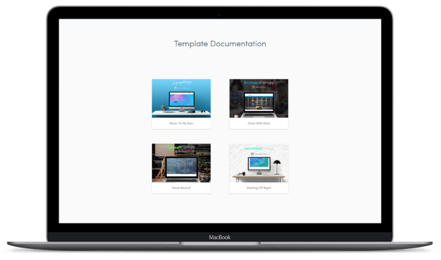 documentation for templates in marketplace