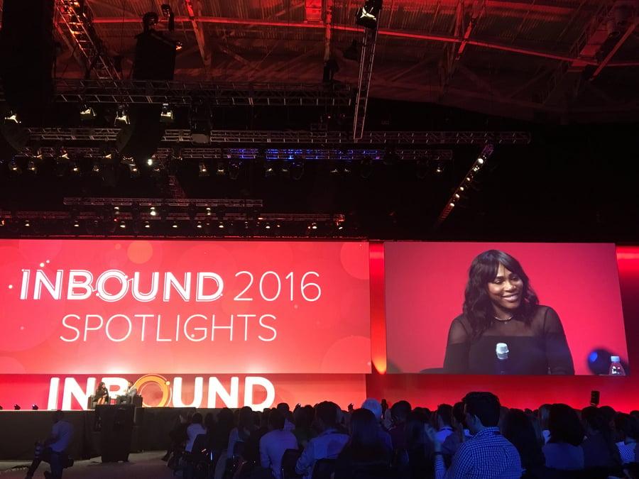 Serena Williams speaks at Inbound 2016