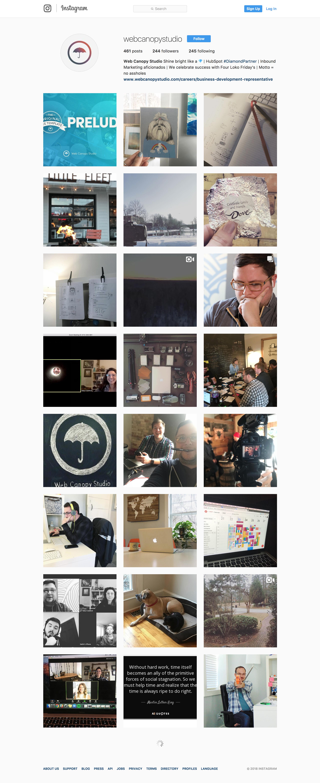 Web Canopy Studio Instagram Feed